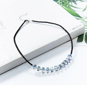 Sparkling Crystal Beaded Choker Necklace