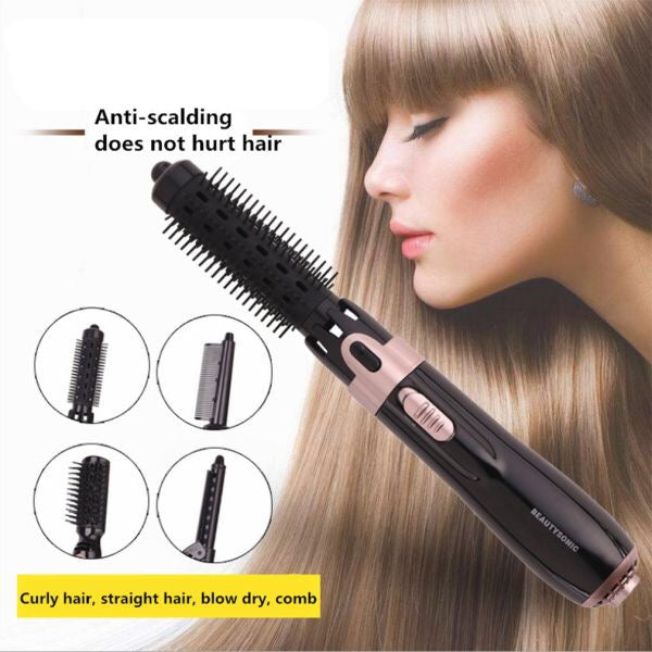 Multifunction 4 In 1 Hair Dryer Machine Comb with Auto-rotating Brush Hair Roller /Curling Iron Wand Styling Tool