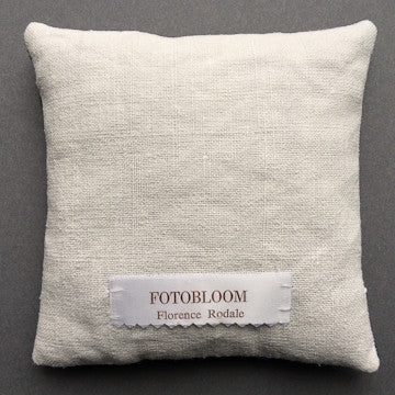"FotoBloom™ Cyanotype Cushion, "" Lace Series 06"""