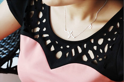 ECG Shaped Necklace for Women