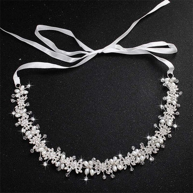 Luxury Clear Crystal Bridal Hair Vine