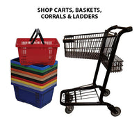 Shopping Carts, Hand Baskets, Cart Corrals & Safety Ladders
