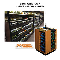 Laydown Wine Bin & Wine Rack Merchandisers