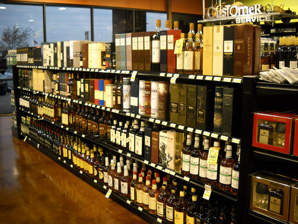 heavy duty liquor store shelving