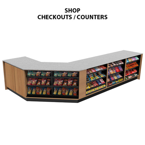 store checkout counters, convenience store checkout