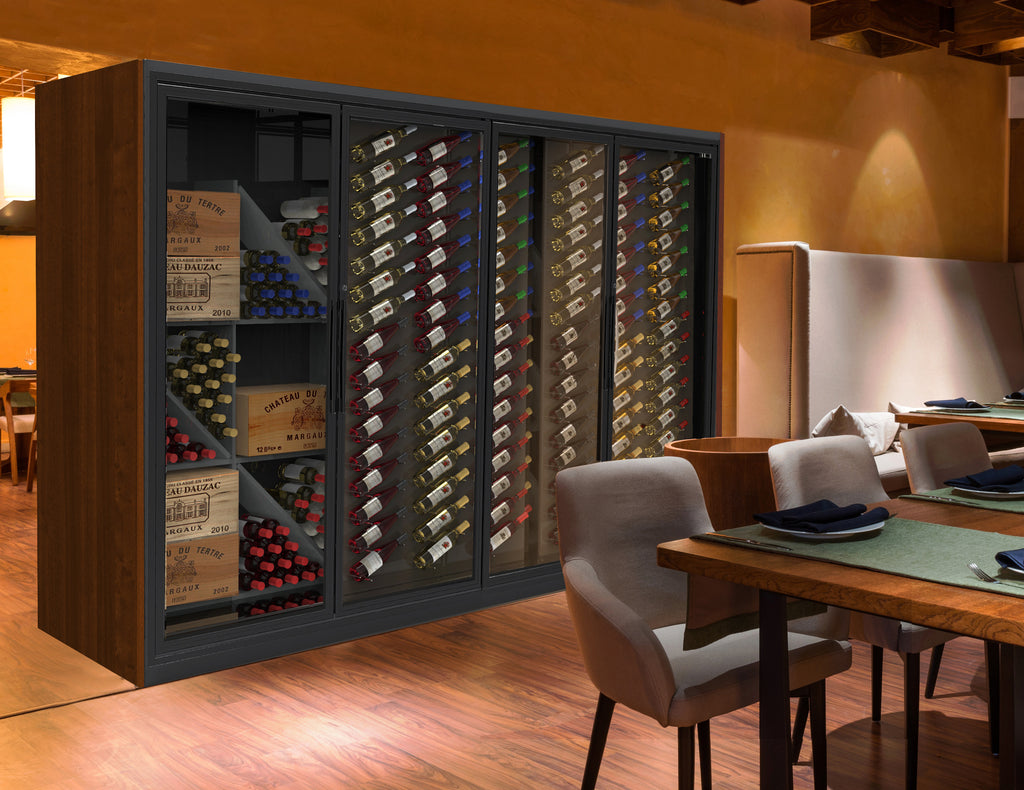 restaurant temperature controlled fine wine display