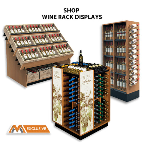 wine rack high capacity display merchandisers