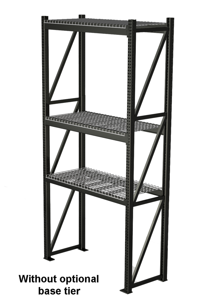 "Heavy Duty Pallet Rack Starter Unit: 30""D x 144""H"