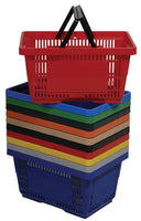 VersaCart Plastic Hand Baskets Pack of 12 (28 Liter)
