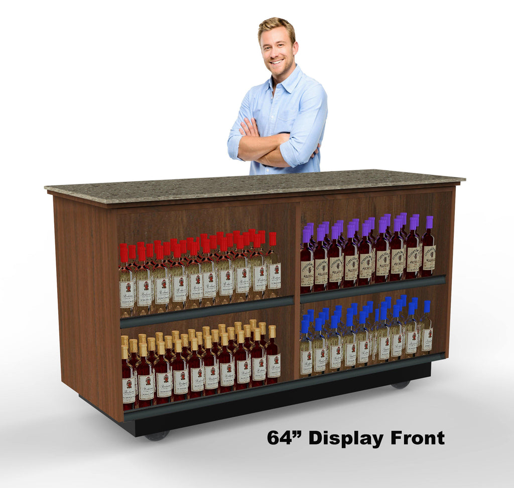 "Display Front Mobile Tasting Bar: 48"" & 64"""