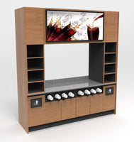 Modular Self-Serve Beverage Wall with Bottom Cup Dispenser: 99.5