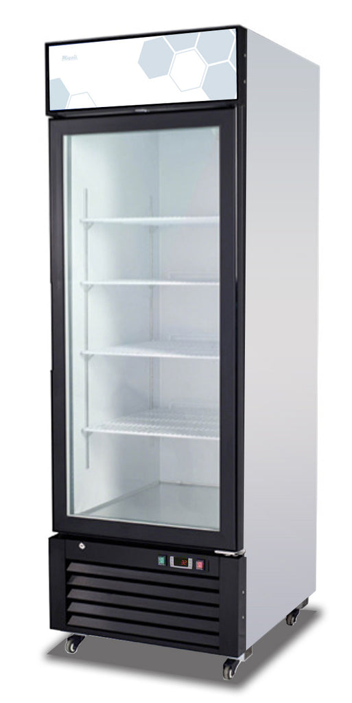 "Migali Single Glass Door REFRIGERATOR C-23RM - 27""x31.5""x81"""