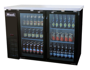 "Migali 48"" Back Bar REFRIGERATOR / Glass Doors / C-BB48G"