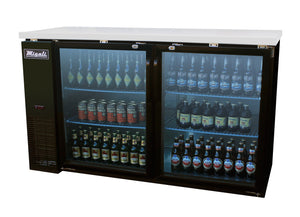 "Migali 60"" Back Bar REFRIGERATOR / Glass Doors / C-BB60G"