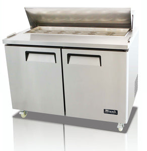 "Migali 48"" Standard Top Sandwich Prep Table / C-SP48-12"