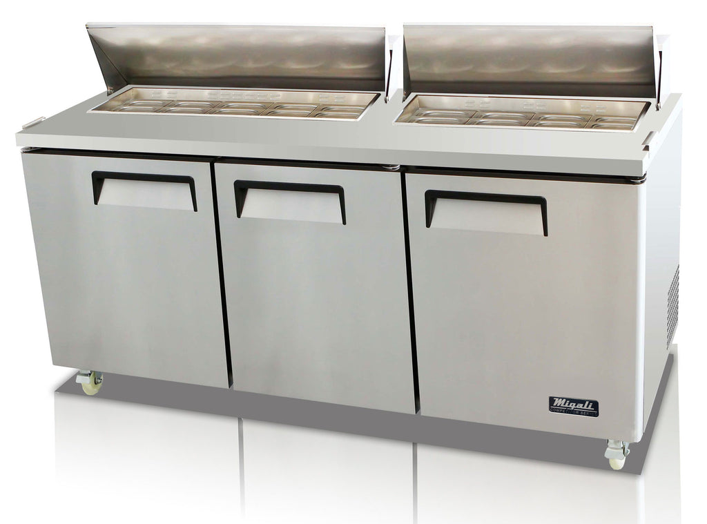 "Migali 72"" Standard Top Sandwich Prep Table / C-SP72-18"