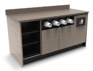 "MOCO Coffee/Beverage Prep Wall Station: 67.5""L x 30""D"