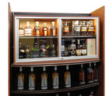 Locking 2 Tier Display Case for Valuable Wine & Spirits