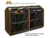high capacity wine merchandiser, wine display gondola