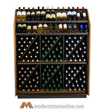 high capacity wine merchandiser, wine display