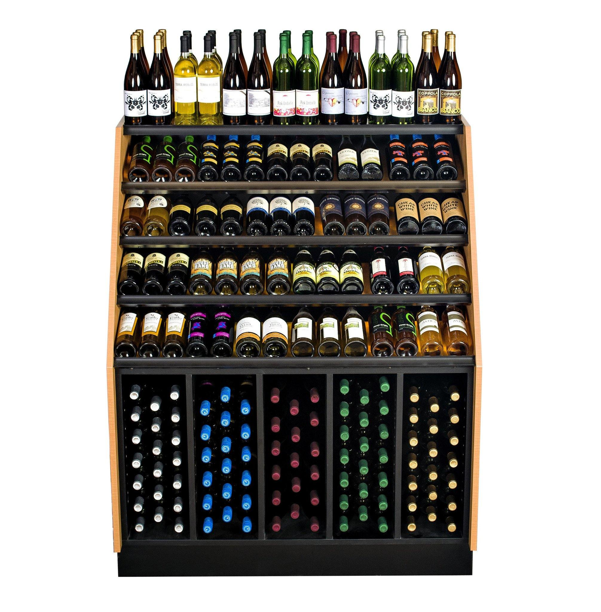 248 bottle wine rack display merchandiser
