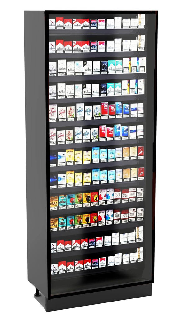 Modular Full Height Cigarette Merchandiser: 12 Shelves - Modern Store Equipment | www.modernstoreequipment.com