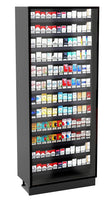 Modular Full Height Cigarette Merchandiser: 12 Shelves