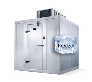 "Amerikooler Walk-In Storage Freezer / INDOOR / With Floor / 6'W x 6'L x 7'7""H - Modern Store Equipment 