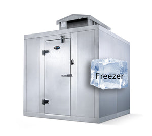 "Amerikooler Walk-In Storage Freezer / OUTDOOR / With Floor / 6'W x 8'L x 7'7""H"