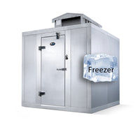 Amerikooler Walk-In Storage Freezer / OUTDOOR / With Floor / 6'W x 10'L x 7'7