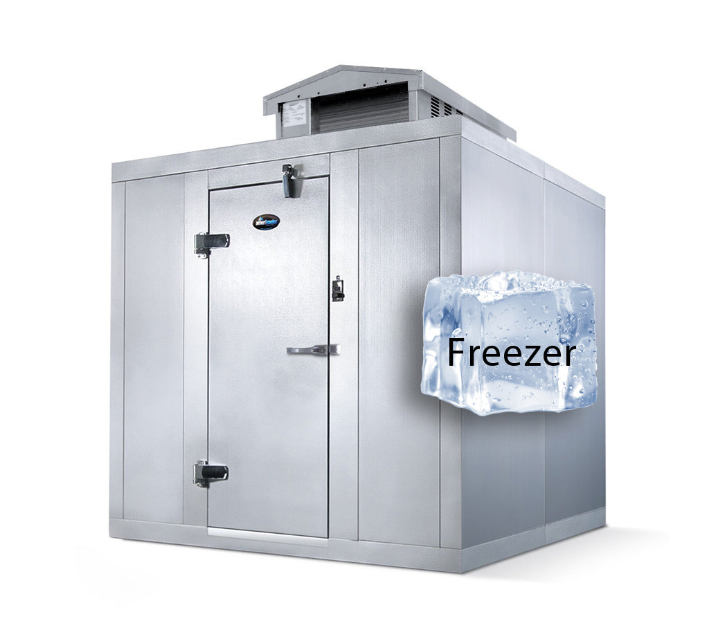 "Amerikooler Walk-In Storage Freezer / OUTDOOR / With Floor / 6'W x 6'L x 7'7""H"