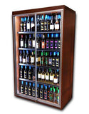 Locking Tall Display Case for Valuable Wine & Spirits