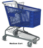 VersaCart Plastic Shopping Cart: Medium