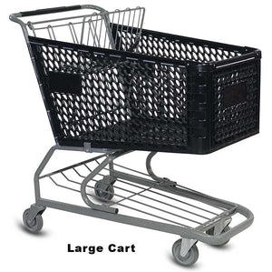 VersaCart Plastic Shopping Cart: Large
