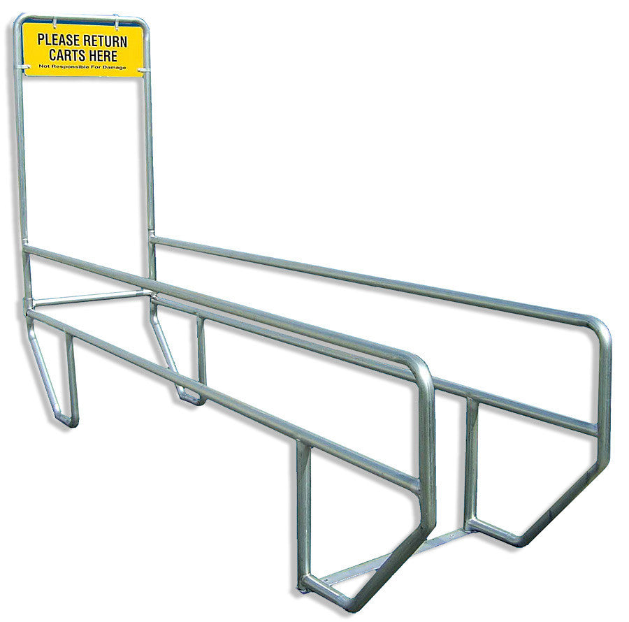 VersaCart Outdoor Cart Corral: Single Lane