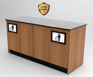 "20% OFF! Modular CLEANGUARD+ Coffee & Beverage Prep Station • Storage & Trash: 67.5""L x 30""D - Modern Store Equipment 