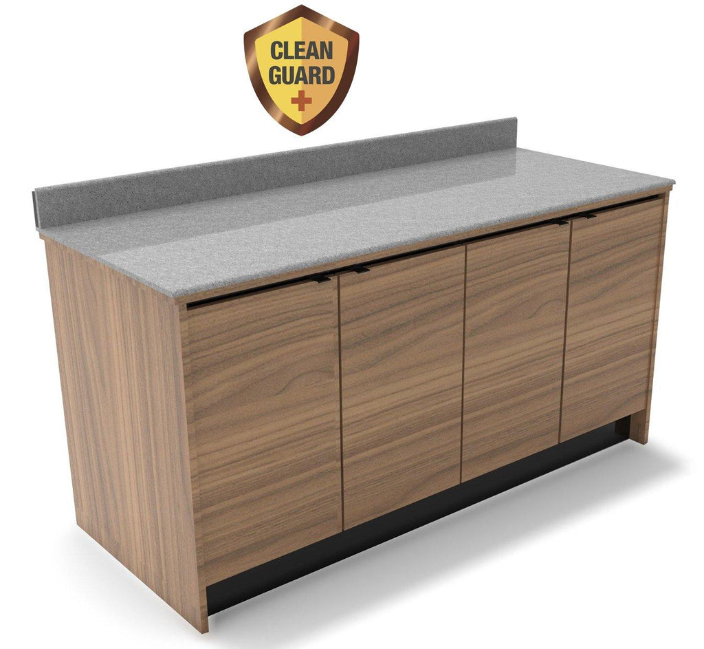 "20% OFF! MOCO CleanGuard+ Beverage & Food Wall Station with Doors: 67.5""L x 30""D - Modern Store Equipment 