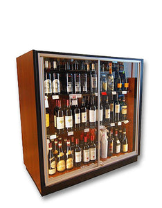 Locking Low Display Case for Valuable Wine & Spirits