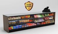 20% OFF! Modular CleanGuard+ Straight Checkout Counter • Merchandising Front, LED: 131.5