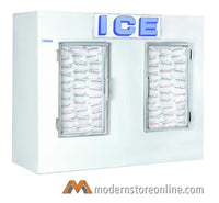 "Polar Temp Indoor Double Door Ice Merchandiser / 1000ADG / 94"" x 35"" x 79"""