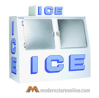 Polar Temp Outdoor Double Door Ice Merchandiser / 600AD /72