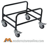 VersaCart Hand Baskets Stand with Wheels & Brakes