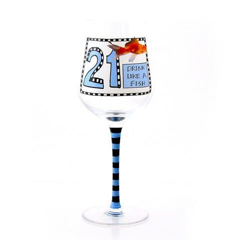 21st Birthday Gift Glass Goblet Hoots N' Howlers