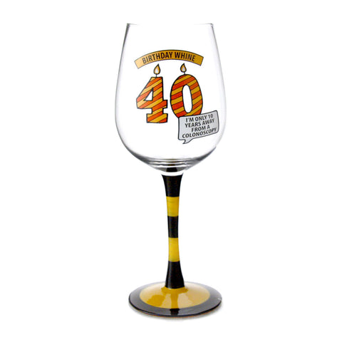 40 Birthday Whine Goblet