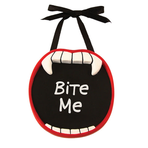Bite Me Vampire Mini Plaque