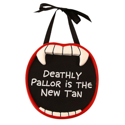 Deathly Pallor Vampire Mini Plaque