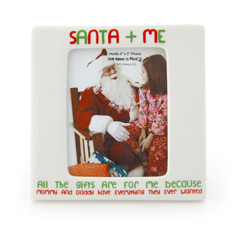 Santa And Me Photo Frame