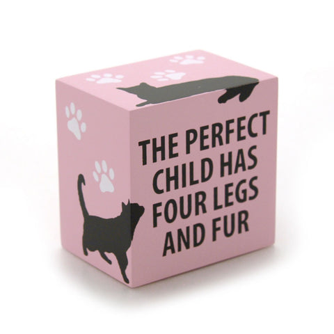 Perfect Child Cat Block Plaque