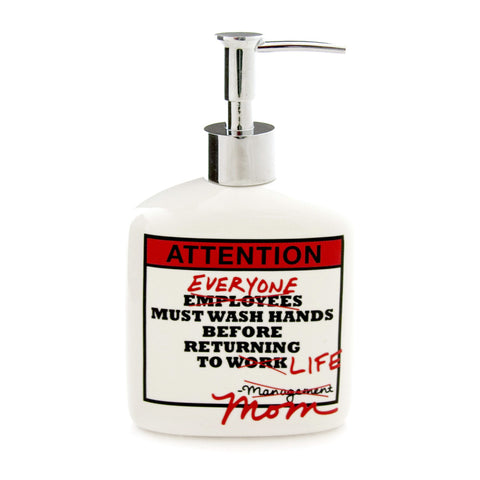 Attention Soap Dispenser