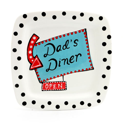 Limited Edition Dad's Diner Square Platter